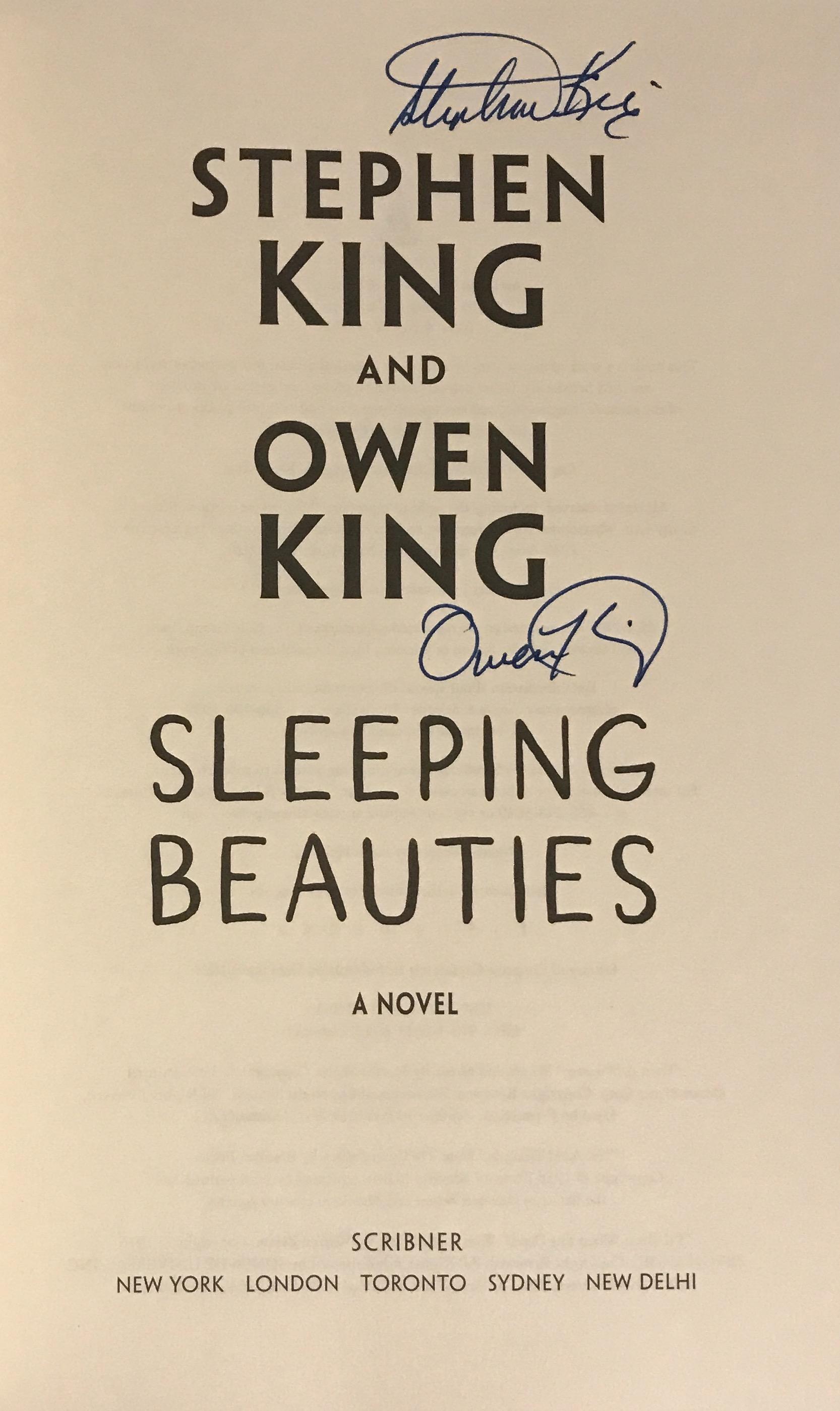 Stephen king sleeping beauties signed
